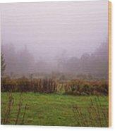 Autumn Fog Wood Print