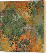 Autumn Forest Tree Tops Abstract Wood Print