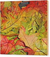 Autumn Gathering Wood Print