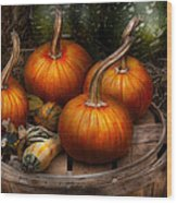 Autumn - Gourd - Pumpkins And Some Other Things  Wood Print