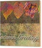 Autumn Greeting Card IIi Wood Print
