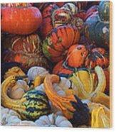 Autumn Harvest Wood Print
