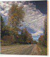 Autumn Highway Wood Print