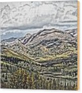 Autumn Hills Wood Print