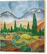 Autumn In Alaska Wood Print
