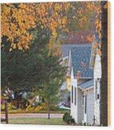 Autumn In Nebraska City No.4 Wood Print