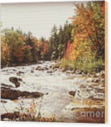 Autumn In New Hampshire Wood Print by Crystal Joy Photography