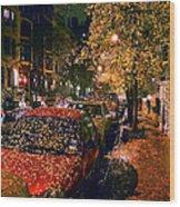 Autumn in New York City Wood Print