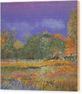 Autumn In Nisqually Wood Print