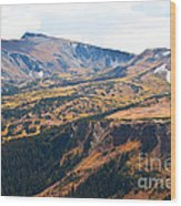 Autumn In Rocky Mountain National Park Wood Print