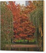 Autumn In The City Wood Print