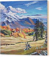 Autumn In The Foothills Wood Print