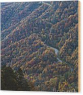 Autumn In The Smoky Mountains Wood Print by Dennis Hedberg