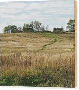 Autumn In The Village Wood Print