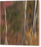 Autumn In Water Color Wood Print