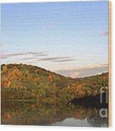 Autumn Lake Panoramic Wood Print