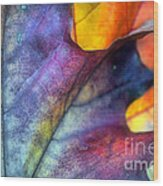 Autumn Leaf Abstract 2 Wood Print