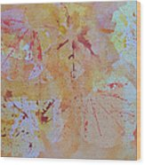 Autumn Leaf Splatter Wood Print