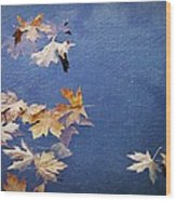 Autumn Leaves Drifting Wood Print