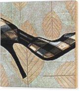 Autumn Leaves Stilettos Wood Print