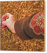 Autumn Leaves Times Two Wood Print