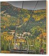 Autumn Lift Wood Print