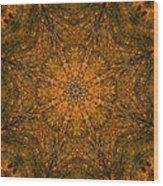 Autumn Mandala 2 Wood Print