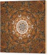 Autumn Mandala 3 Wood Print