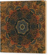 Autumn Mandala 5 Wood Print