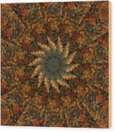 Autumn Mandala 7 Wood Print