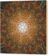 Autumn Mandala 8 Wood Print