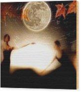 Autumn Moon Dance Wood Print