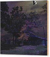 Autumn Night Wood Print