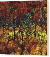 autumn oak rising after the fire - Mesa Verde  Wood Print