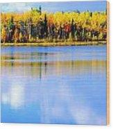 Autumn On Chena Lake Ll Wood Print