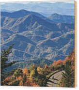 Autumn On The Blue Ridge Parkway Wood Print