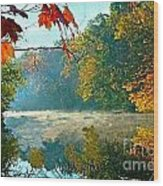 Autumn On The White River I Wood Print