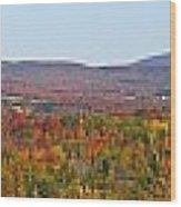 Autumn Panorama Brome Quebec Canada Wood Print