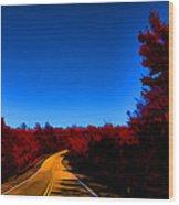 Autumn Red Wood Print by Douglas Barnard