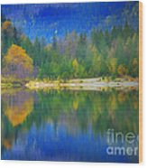 Autumn Reflected 2 Wood Print