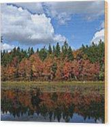 Autumn Reflection Wood Print