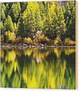 Autumn Reflection In Georgetown Lake Colorado Wood Print