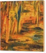 Autumn Reflection In The Water Wood Print