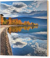 Autumn Reflections In October Wood Print by Tara Turner