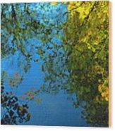 Autumn Reflections New Hampshire II Wood Print