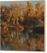 Autumn Reflections Painterly Wood Print