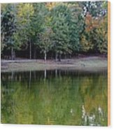 Autumn Reflections Upon Dark Waters Wood Print