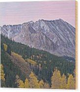 Autumn Rocky Mountains Wood Print