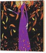 Autumn Spirit Wood Print