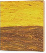 Autumn Sunset Over Harvest Field Wood Print